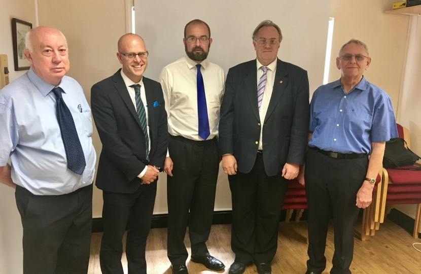 James with District and Parish Councillors