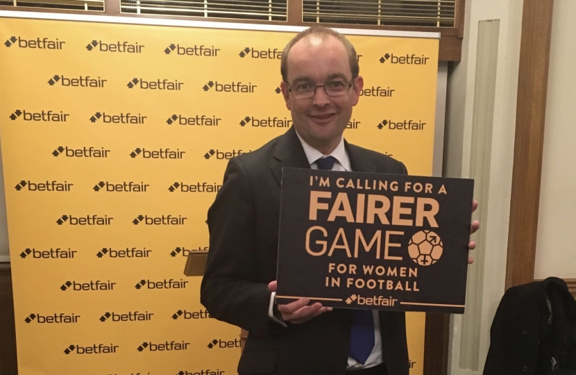 James Duddridge supports Fairer Game, Betfair campaign