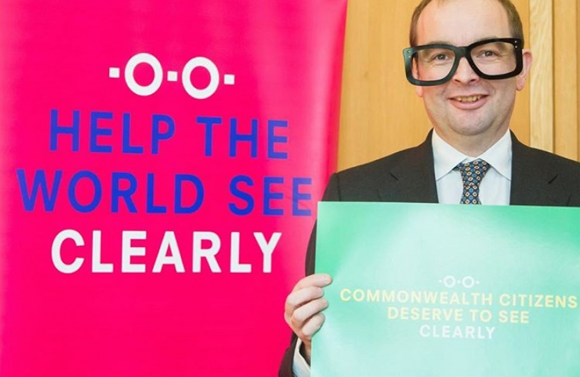 James supporting the Clearly Campaign