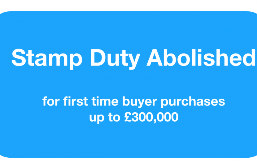 stamp duty abolished for first time buyer purchases up to £300,000