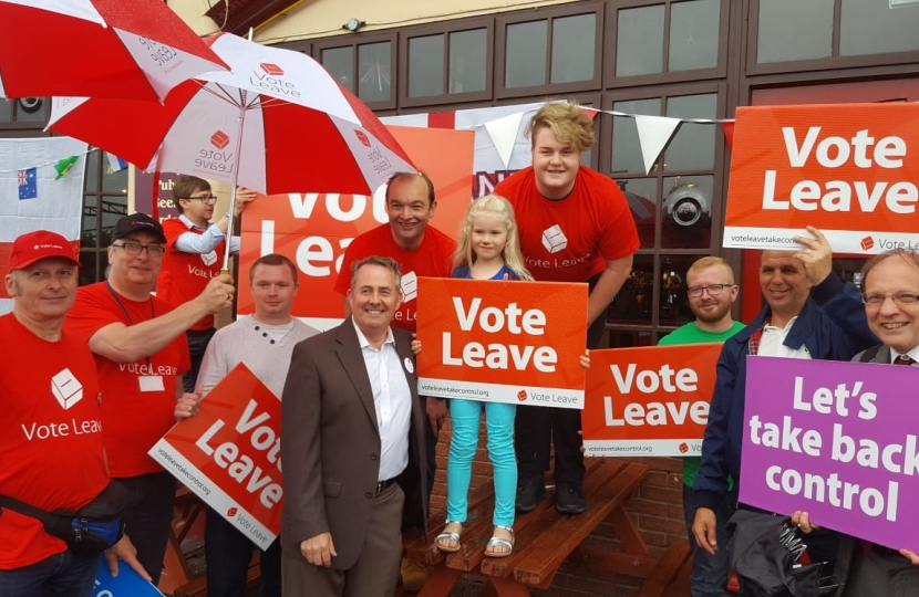 James Duddridge MP with Vote Leave campaigners