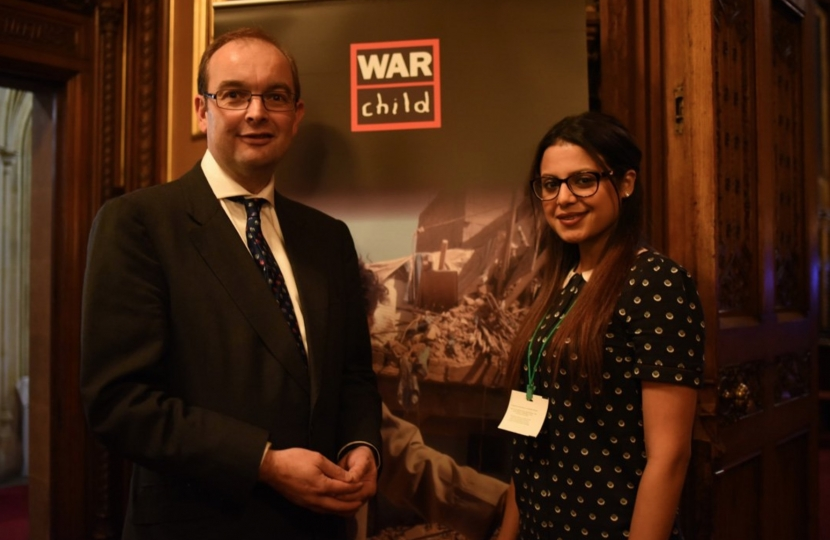James at parliamentary event for War Child