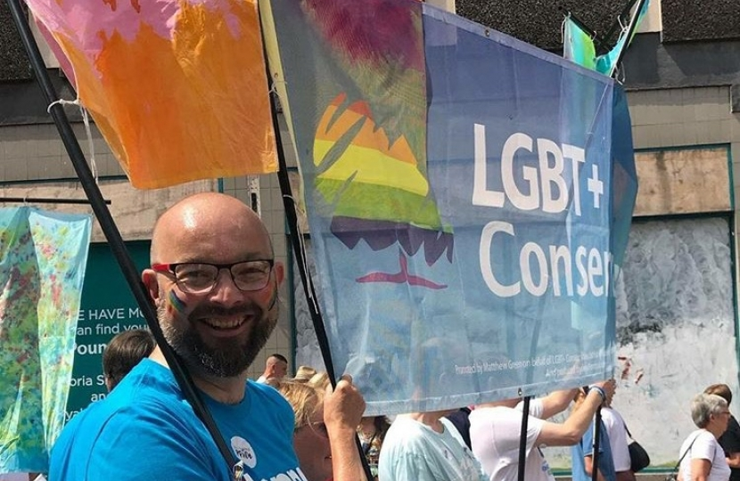 James supporting the LGBT community at Southend Pride