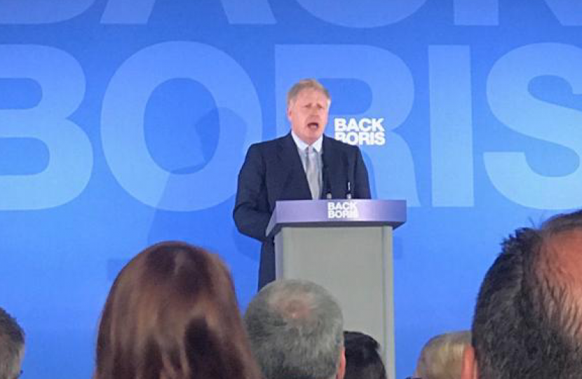 James Duddridge MP's view from the Back Boris launch