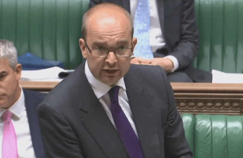 James Duddridge takes MP's questions in the Commons