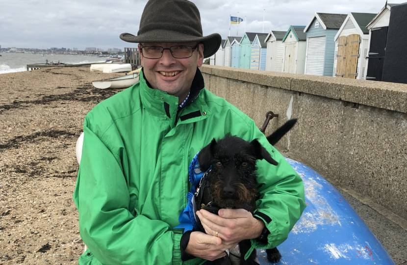 James Duddridge MP with Sue the dog