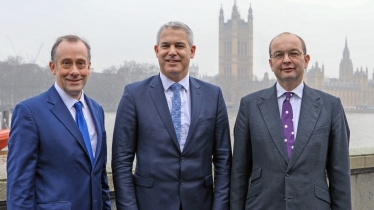 : Getting It Done: James Duddridge MP with Department for Exiting the European Union colleagues the Secretary of State for Exiting the European Union Steve Barclay (centre), and Minister of State Lord Callanan (left).